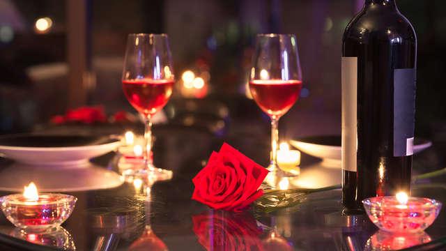 Dîner de la Saint-Valentin pour 2 adultes