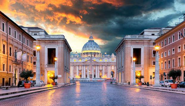 Visite de Rome et de la Basilique Saint-Pierre du Vatican avec séjour en centre-ville
