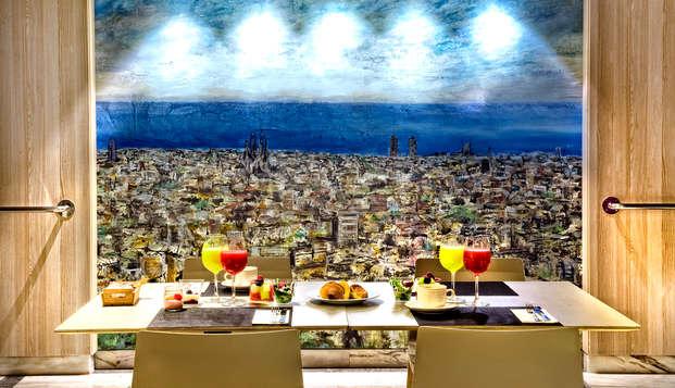Descubre Barcelona en un hotel de diseño con Spa, Masaje y Cena (desde 2 noches)