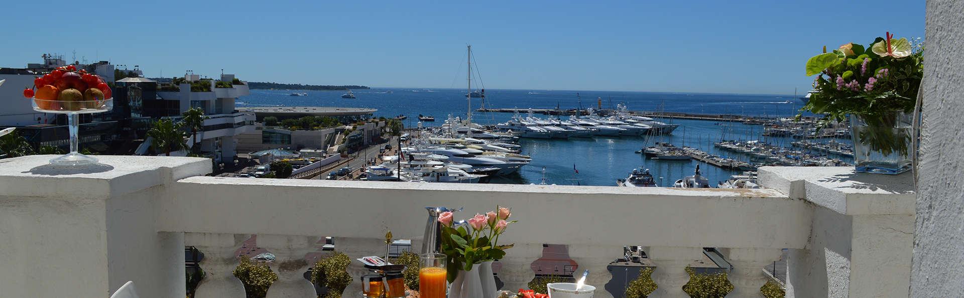 Overnachten met zicht op zee in Cannes