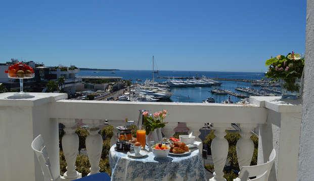 Week-end en chambre vue mer à Cannes