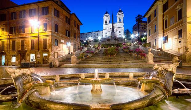 Romantisme à Rome : Cadeau, chambre supérieure, dîner romantique et sortie tardive !