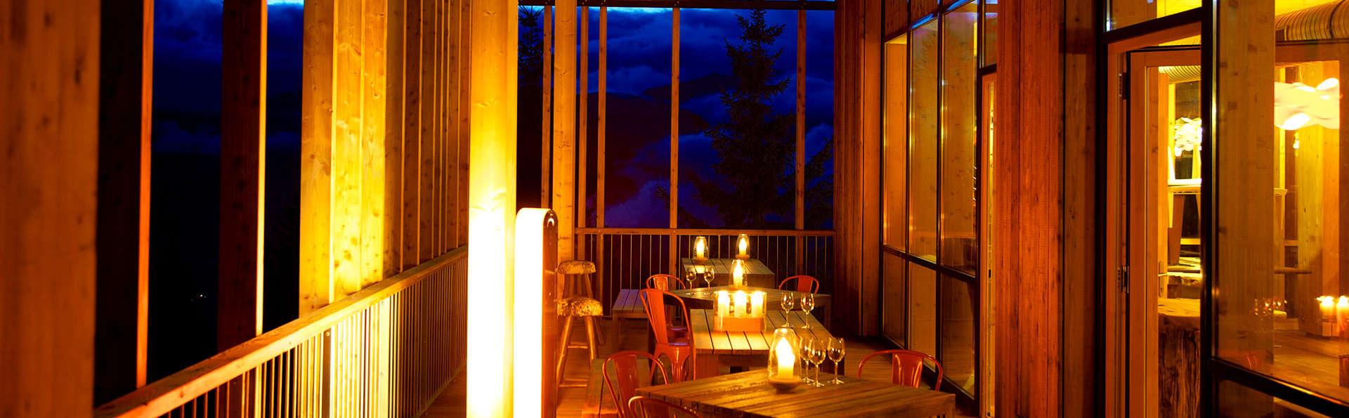 Escapade gastronomique avec vue sur le Mont Blanc, aux Arcs