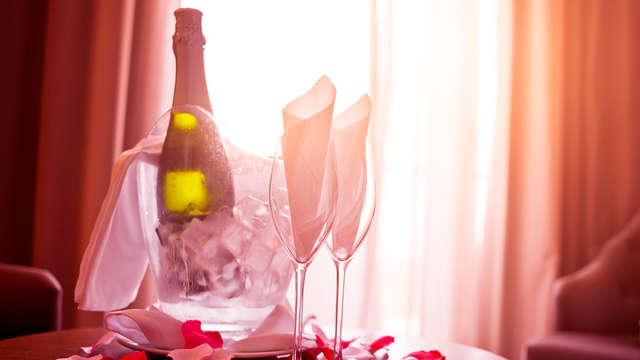 Romantisme avec champagne et macarons proche du centre de Narbonne