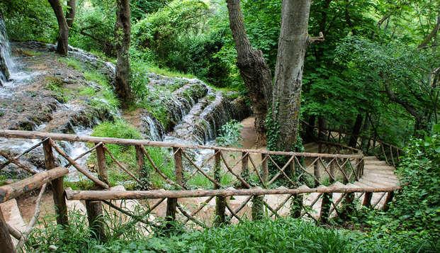 Relax total: entrada al parque natural Monasterio de Piedra,termas y media pensión (desde 2 noches)