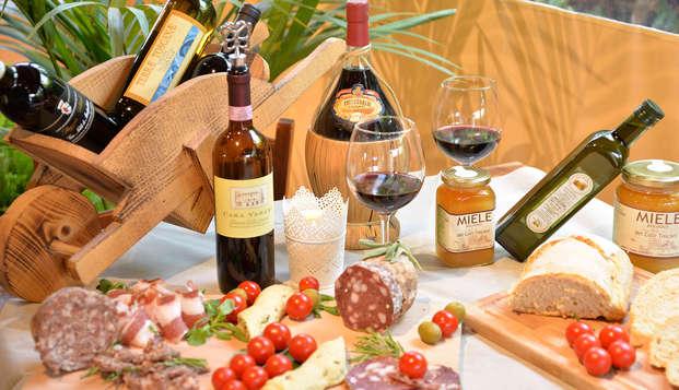 Dégustation de produits locaux près du centre d'Arezzo