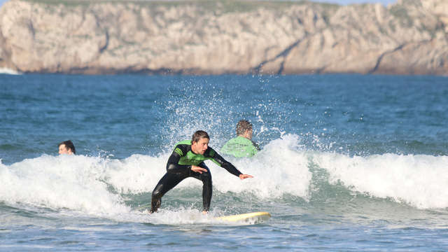 Disfruta del surf en el mar de Suances en tienda deluxe (desde 3 noches)