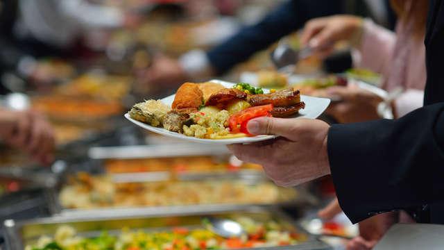 1 cena buffet para 2 adultos
