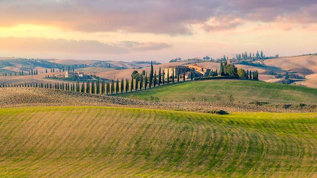 ¡Alójate en el Hotel Ai Tufi con vino Chianti y visita a San Gimignano!