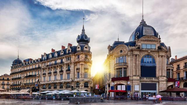 Romantisme en toute simplicité dans le centre de la ville de Montpellier