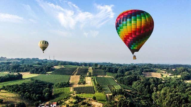 Ballonvaart in de buurt van Pavia