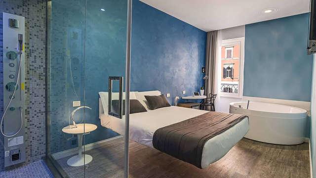 Weekend di coppia nel cuore di Roma in Suite con Jacuzzi in camera