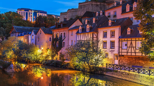 Gezinsuitje in de stad Luxemburg