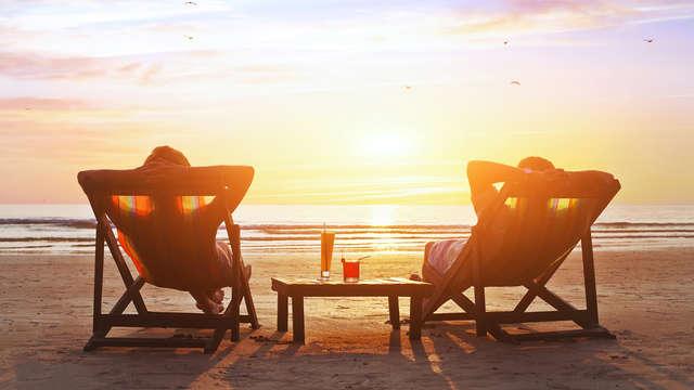 Relaxen en genieten op een ligbed aan het strand van Blankenberge (2 nachten)