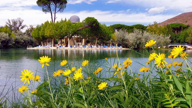 Dîner et détente avec accès au lac thermal d'Alhama de Aragón