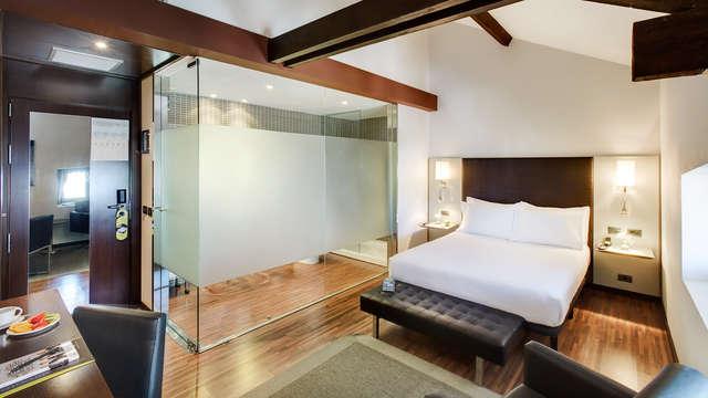 Heerlijk genieten met je partner in een Superior-kamer met jacuzzisessie in Alcoi