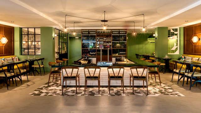 Escapada con cena menú pizza artesanal en un hotel de diseño