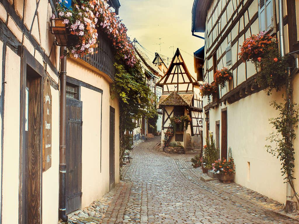 Charme français et saveurs traditionnelles dans un village médiéval en Alsace 3*