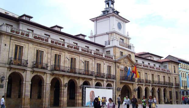Escapada económica en Oviedo con desayuno y botella de sidra de regalo
