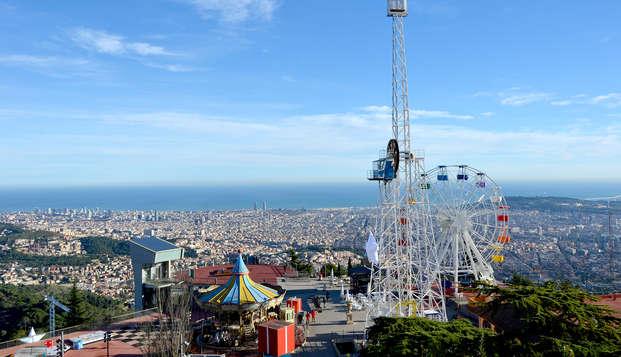 Escapada en Barcelona con tickets para el parque de atracciones del Tibidabo