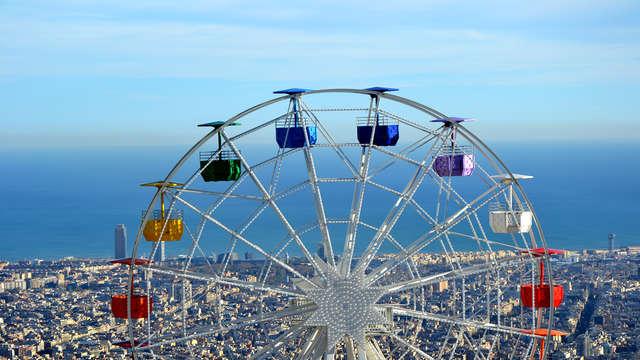 Escapada a dos pasos del centro de Barcelona con entradas al parque de atracciones del Tibidabo