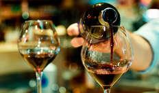 Bottiglia di vino in omaggio
