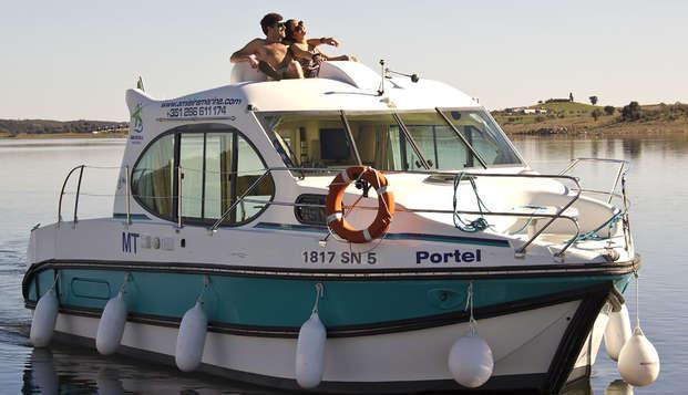 Origineel verblijf in een boot nabij Evora