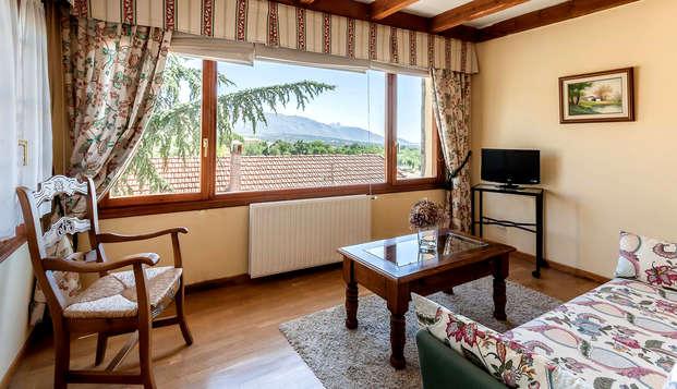 Disfruta de una desconexión bien merecida en este moderno hotel rural en plena sierra de Madrid