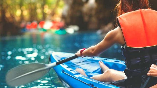 Weekendje weg in een boot en kajakken in de buurt van Evora