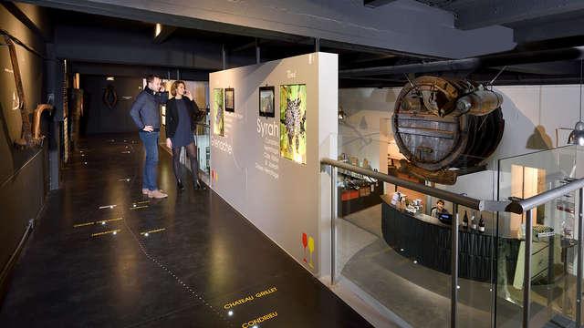 1 Visite audioguidée du Musée du Vin et dégustation de vins pour 2 adultes