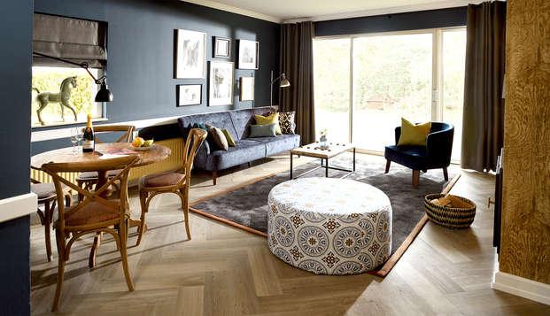 Heerlijk verblijf in luxe cottage op prachtig landgoed