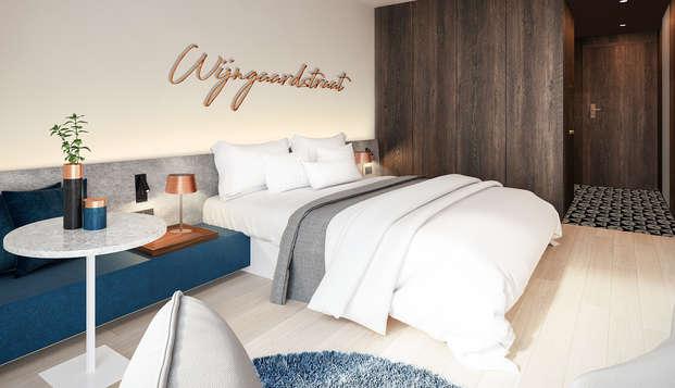 Romanticismo, cava y bombones en un moderno hotel de Brujas