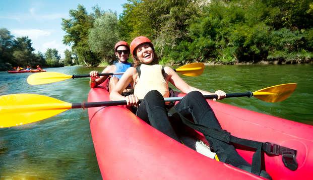 Escapada aventura con ruta en canoa por el río Tormes y acceso al circuito termal cerca de Salamanca