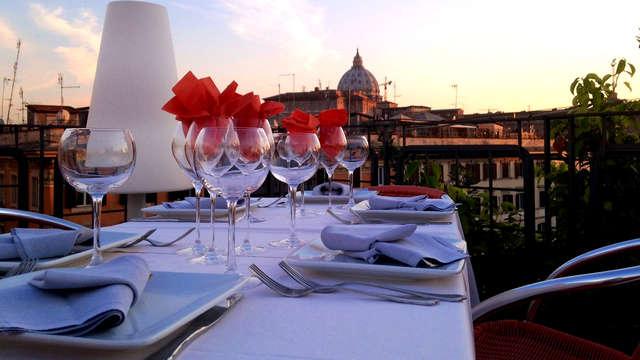 Séjour gastronomique à Rome : nuit en hôtel 4 étoiles avec vue, et dîner inclus