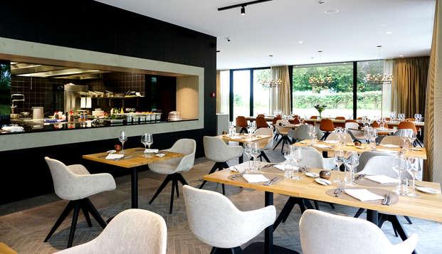 Luxe met diner in een gezellige brasserie in Bilzen