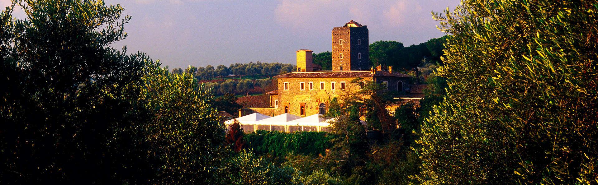 Nuit au château juste à l'extérieur de Rome: romance et nature!