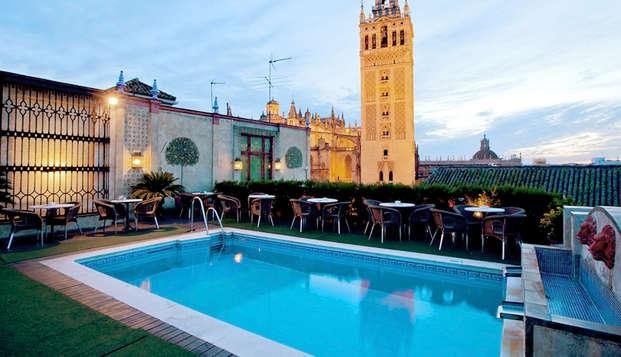 Séjour de luxe à Séville avec vue panoramique et chambre supérieure