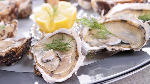 visita a los viveros de ostras y degustación para 2 adultos