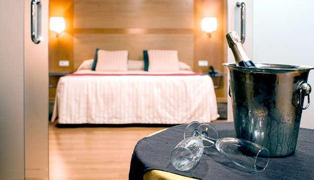 Escapada romántica en Junior Suite en Alcoy con acceso a zona relax