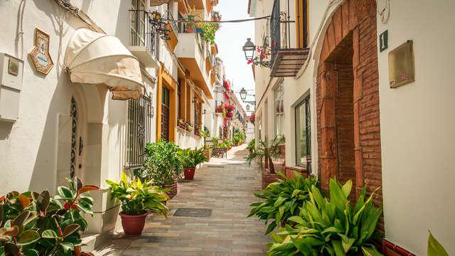 Ambiente mediterráneo, sol y playa en la preciosa Marbella
