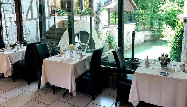 Escapade avec dîner et visite de cave dans un ancien moulin près de Troyes