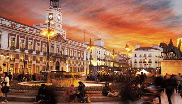 Escapada en el corazón de Madrid, al lado de la Puerta del Sol con desayunos incluidos