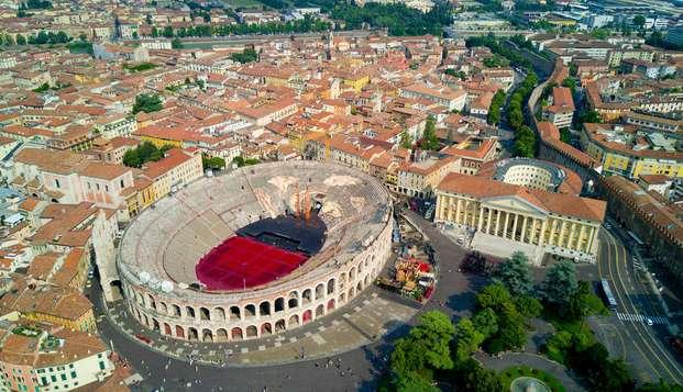 Espléndida estancia a las afueras de Verona con entrada al anfiteatro Arena incluida