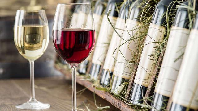 Botella de vino de la región