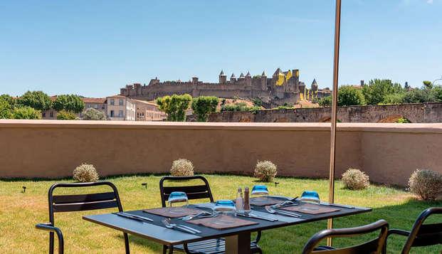 Escapade à vélo et visite du château Comtal à Carcassonne