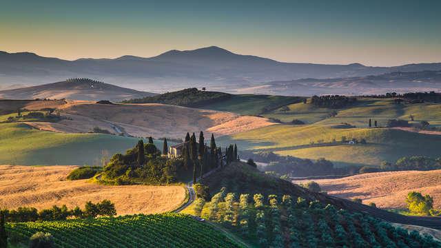 Alójate en una granja sienesa en la Toscana