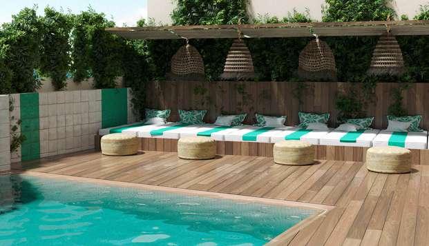 Eco-Friendly: Pensión completa healthy, playa y mediterráneo en un hotel boutique en Lloret de mar