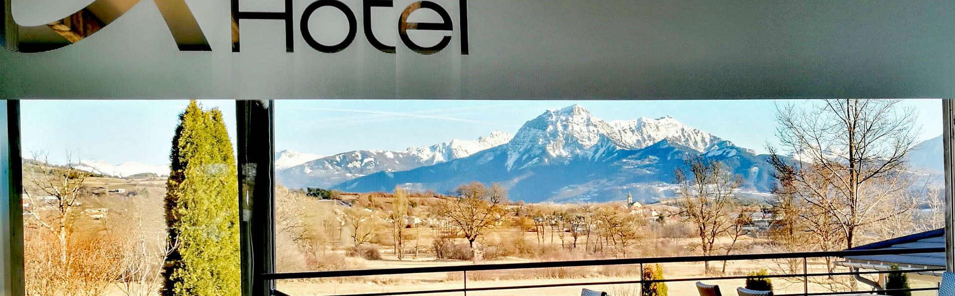 Dîner, gommage et accès à l'espace détente pour un séjour face aux montagnes (à partir de 2 nuits)