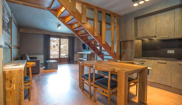 Appartement pour 3 ou 4 personnes avec cuisine équipée et spa illimité à la Massana
