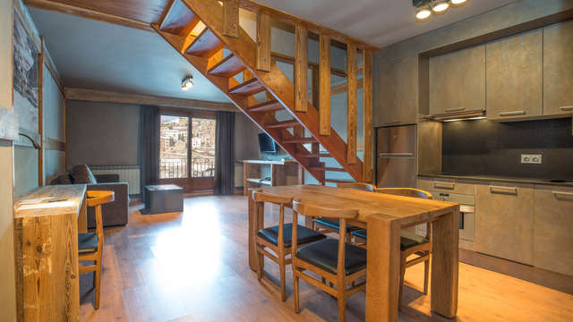 Apartamento para 3 o 4 personas con cocina equipada y spa ilimitado en la Massana